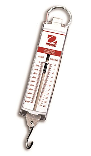 - Ohaus 8001-PN Pull Type Spring Scale, 0.56lb/2.5n Capacity, 0.02lb/0.1n Readability