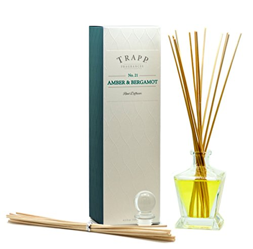 Trapp Ambiance Collection No. 21 Reed Diffuser Kit, Amber & Bergamot, 4.5-Ounce