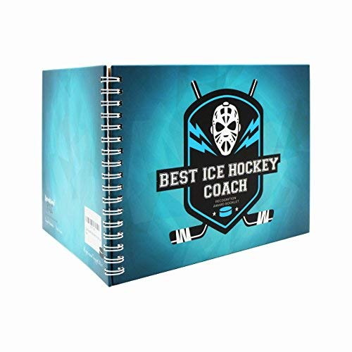 Ice Hockey Gifts - Recognition Award Booklet for Being The Best Ice Hockey Coach - Includes Certificate, Quotes, Frames, Stickers and More Idea for Players, Sport Fans and Team Coaches