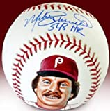 Mike Schmidt Signed, Inscribed, Hand Painted
