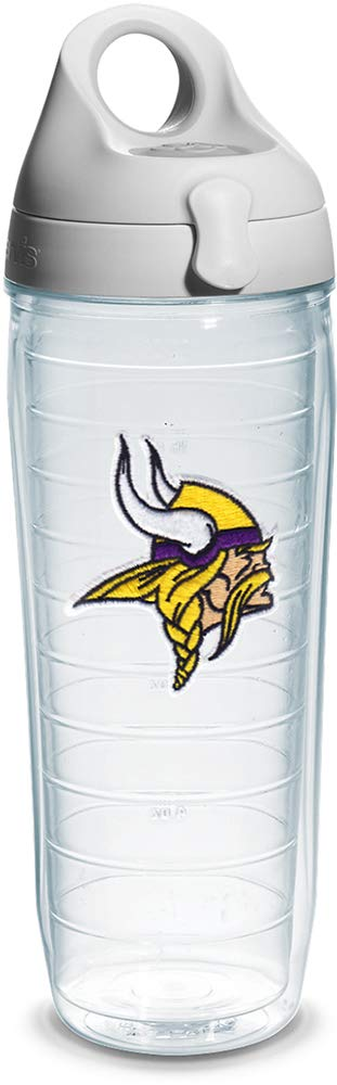 24 oz Tervis NFL Green Bay Packers Wrap Individual Water Bottle with Gray Lid Clear