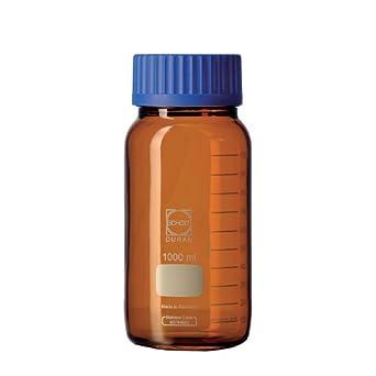 Duran 21 866 69 GLS 80 Laboratorio Botella, 5 frascos con rosca sin cierre y