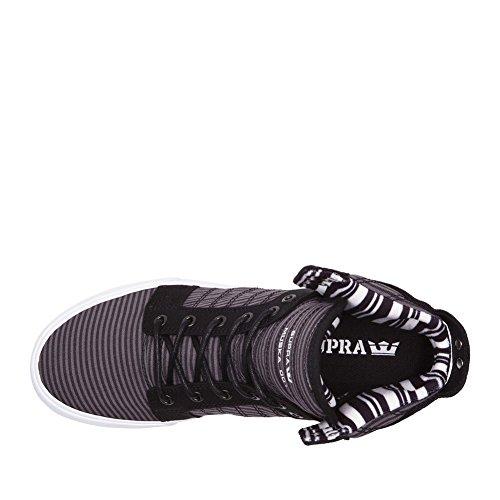 Supra Skytop S18091, Sneaker uomo Black/Grey/White