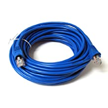 SoDo Tek TM RJ45 Cat5e Ethernet Patch Cable For Panasonic Panafax UF-7200 Printer - Blue - 25 ft