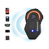 Helmet Communication Systems Group Intercom, Waterproof 1500M T-MAX Helmet Bluetooth Headset Talking Intercom Handsfree for Motorcycle Skiing (Full Duplex, FM Radio, 6 Riders Pairing, Voice Prompt) by FreedConn