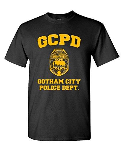 GCPD Gotham City Police DEPT - Arkham Game - Mens Cotton T-Shirt, 3XL, Black -