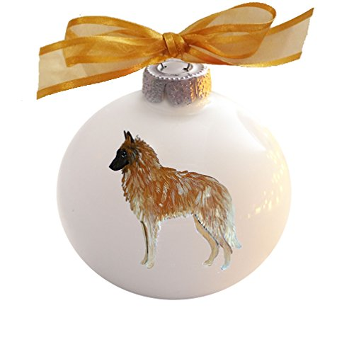 Belgian Tervuren Dog Hand Painted Christmas Ornament - Can Be Personalized with ()