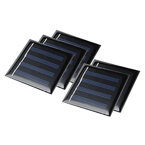 uxcell 5Pcs 2V 50mA Poly Mini Solar Cell Panel Module DIY for Phone Light Toy Charger 53.5mm x 53.5mm For Sale