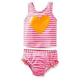 Carter\'s 2-piece Tankini Swimsuit Glitter Heart- Pink (12 Months)