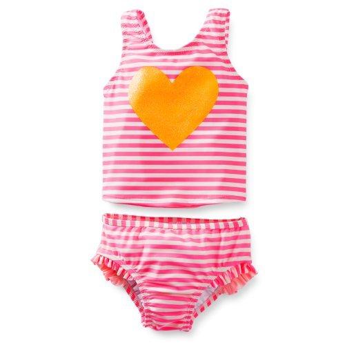 UPC 096547647112, Carter's 2-piece Tankini Swimsuit Glitter Heart- Pink (12 Months)