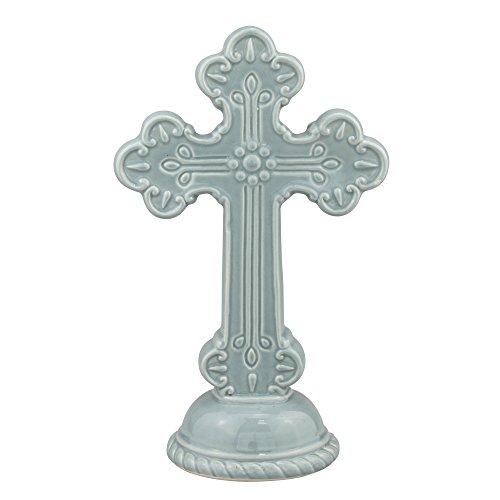 Small Ceramic Cross - Stonebriar Accents of Faith 10