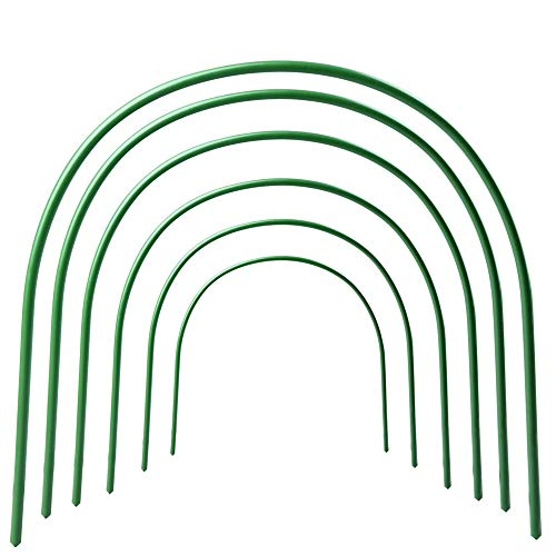 Mofvg Row Tunnel Hoop Greenhouse Garden Hoops Grow Support House Tunnels Gardening Houses Growing Frame by Mofvg