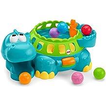 Fisher-Price Go Baby Go Poppity-pop Dino Musical., Empaque libre de frustración, talla única , colores como se muestran