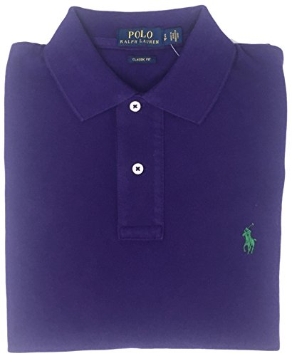 Polo Ralph Lauren Classic Fit Mesh Pony Logo Polo Shirt (S, Deep Plum)