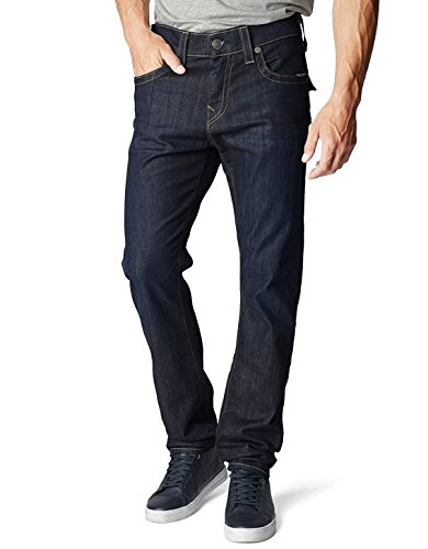 True Religion Men's Geno W Flap Slim Jean, Wanted Man, 42