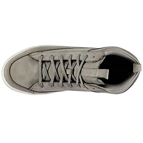 Firetrap Euphoria Mid décontracté Baskets pour homme GRY/WHT Baskets mode Sneakers