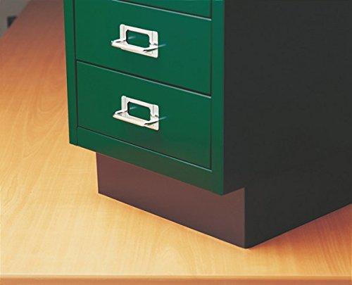 Bisley Plinth Base for Steel Under Desk Multidrawer Cabinet, Black (MDPLINTH)