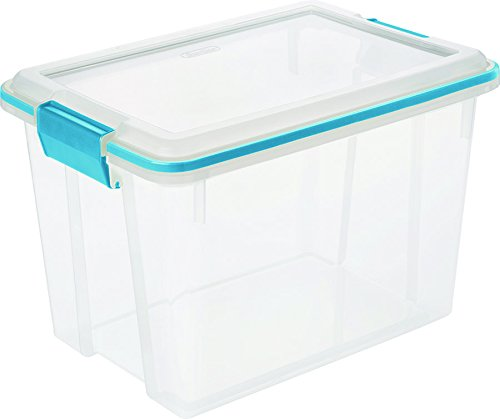 STERILITE 19324306 Gasket Box See-Through Lid and Base with Blue Aquarium Latches and Gasket, 20-Quart, (Latch Gasket)