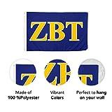 Zeta Beta Tau Fraternity Letter Flag Greek Banner 3 feet x 5 feet Sign Decor ZBT