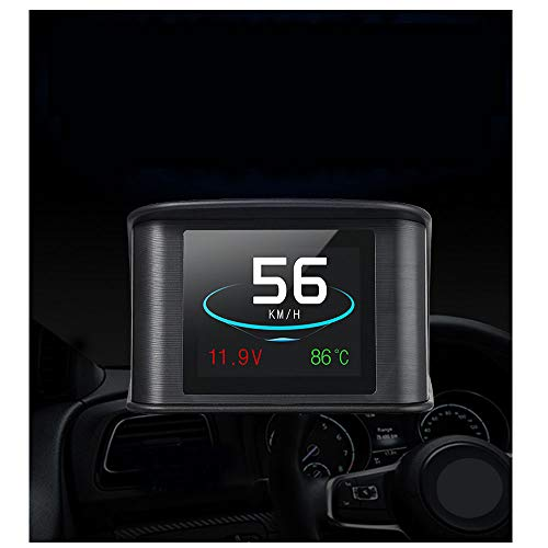 HUD Display, iKiKin OBD2 Car Head Up Display with TFT LCD Display Shows Speed RPM Voltage Detection for Error Code Muti-Function Car HUD with EUOBD OBD 2 Interface P10
