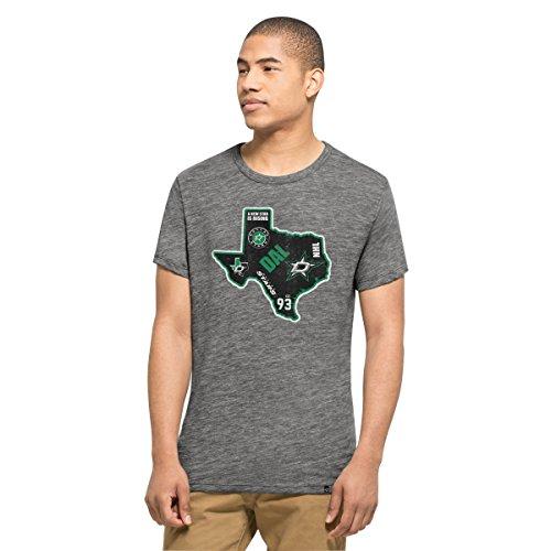 NHL Dallas Stars Men's 47 Tri-State Tee, X-Large, Vintage Grey -