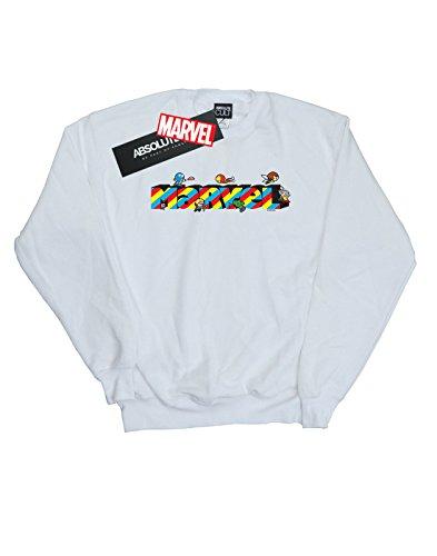 Marvel Stripes Camisa Entrenamiento Mujer Blanco Kawaii De f1qxfErT