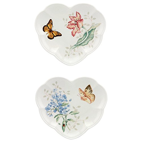Lenox Butterfly Meadow Heart Party Plates, Set of 2 (Meadow Heart)