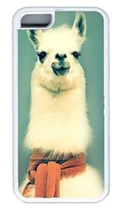 White Llama Wearing A Scarf DIY Rubber White Best Designed iphone 5C Case