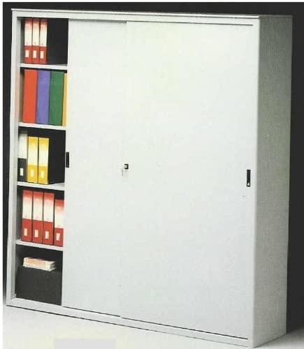 Ideapiu - Armario metálico para oficina, armario metálico, puertas correderas, 120 cm de largo. X 45 Prof. X 200 H: Amazon.es: Hogar