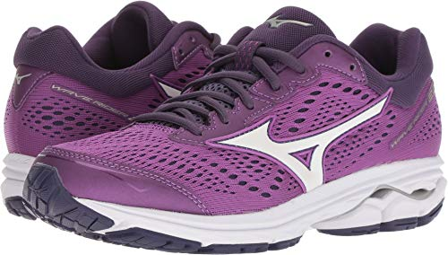 Mizuno Women's Wave Rider 22 Running Shoe, Bright Violet/Purple Plumeria 11 B (Best Mizuno Running Shoes For Flat Feet)