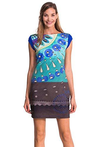 Column Desigual Blau Damen bedruckt Blau Navy Kleid 50qwOq17xZ