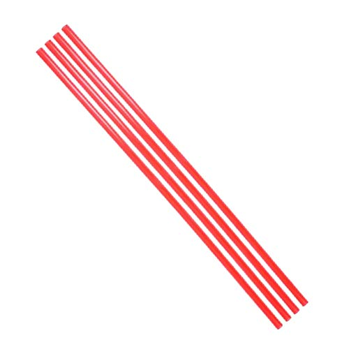 YILE 4PCs 500mm Length 10mm Diameter PETG PC Water Cooling Tube Rigid Acrylic Water Cooling Tube Water-Cooled Petg Hard Tube Computer Cooling Tube for Computer Water Cooling System (Red)