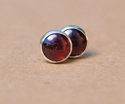 Garnet earrings 8mm
