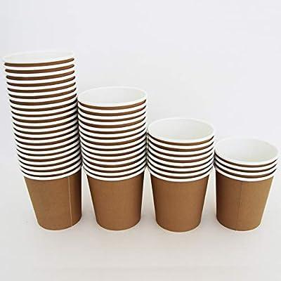 Extiff - Juego de Vasos Desechables de cartón Kraft para café para ...