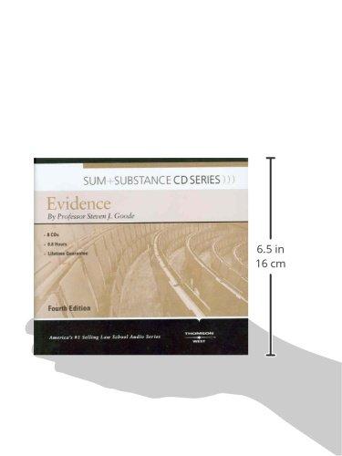 Sum & Substance Audio on Evidence (CD) (Sum + Substance CD Series) (Sum and Substance Audio) by West