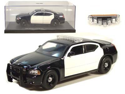 Amazon 2006 Dodge Charger Rt Police Blank 124 Bw Jada Toys