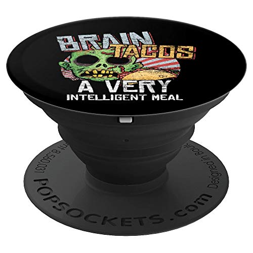 Halloween - Cinco De Mayo Brain Taco Meal Zombie - PopSockets Grip and Stand for Phones and Tablets -