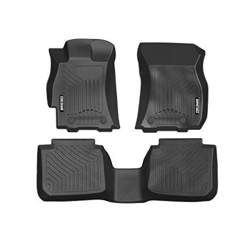 back Floor Mats, Waterproof Floor Liners Custom Fit for 2015-2018 Subaru Outback/Legacy,1st and 2nd Row Included-All Weather Heavy Duty Rubber Floor Protection,Black ()