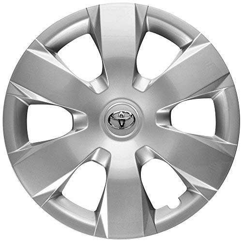 Genuine OEM Hubcap | Fits 2007-2011 Toyota Camry | Professionally Reconditioned Like-New | 16-inch Factory Replacement Wheel Cover | 61137