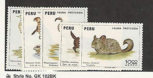 Peru, Postage Stamp, C372-C376 Mint LH, 1973 Animals, JFZ