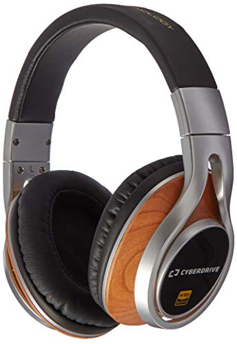 Cyberdrive High-Resolution Over-The-Ear Wired Stereo Headphones Wood - Headphone Electrostatic