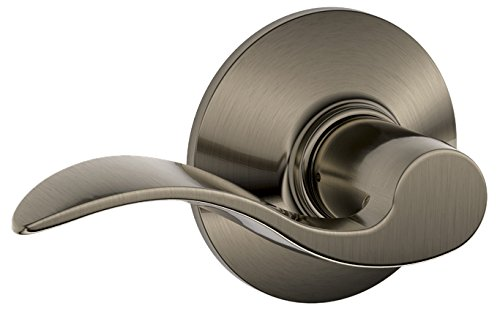 Accent Hall and Closet Lever, Antique Pewter (F10 ACC (Door Pewter Locks)