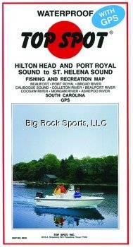 Top Spot Fishing Map from Port Royal to St. Helena Sound