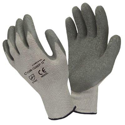 (12 Pair) Cordova 3895 Cor-Grip ll Gray Poly/Cotton W/ Gray Latex Coating Size S