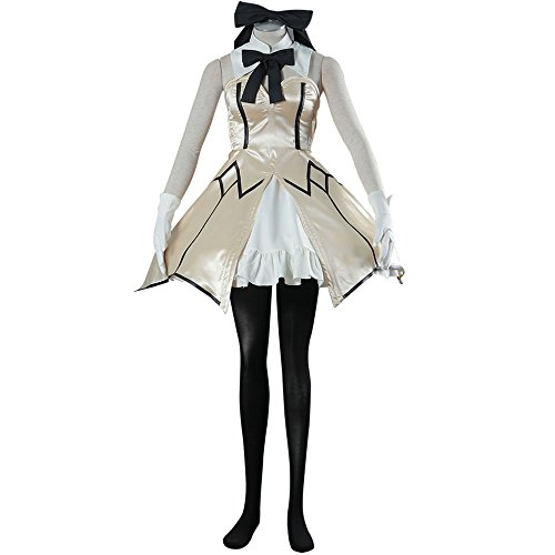 Costume Swordsman Female (Ourcosplay Fate The Holy Grail War Saber Lily Cosplay Costume White Suit Swordsman Sleeveless Edition 9Pcs Set (Women)