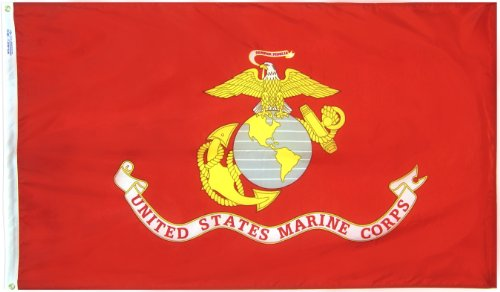 U.S. Marine Corps Military Flag 3x5 ft. Nylon SolarGuard Nyl