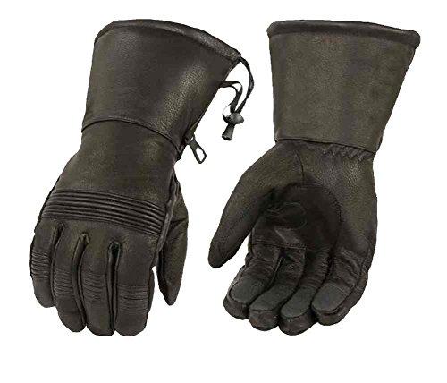 Milwaukee Leather Men's Premium Leather Waterproof Gauntlet Gloves SH294 (L)