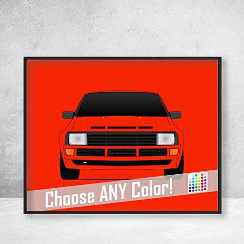 Audi Quattro Sport Original Classic Ur-Quattro Poster Print Wall Art Decor Handmade ()