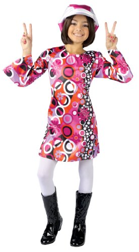 Groovy Girl Costume (Feelin' Groovy Hippie Kids Costume 8-10)