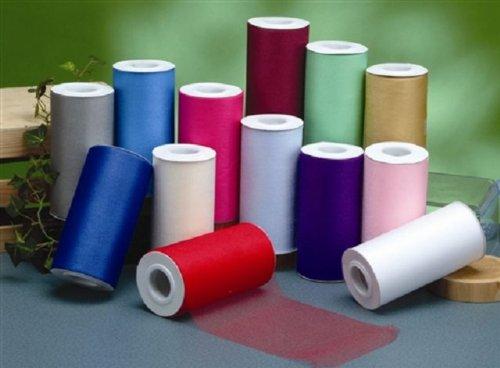 "6"" X 25 Yard Roll Tulle Bolt Fabric (6"" x 25 yards, Hot Pink)"